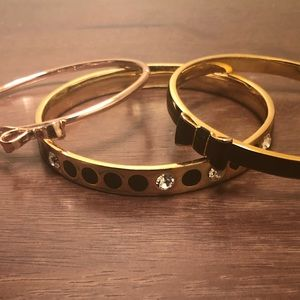 Kate Spade Bangle/Bracelet Bundle Stacked 3 Three